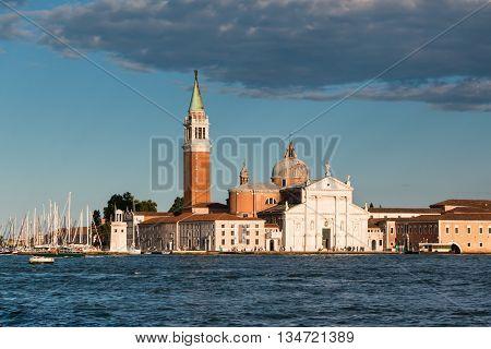 San Giorgio Maggiore Church And Campanile In Venice, Italy