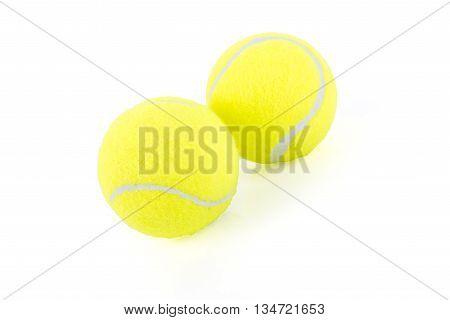 Two Green Paddle Ball