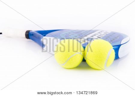 White And Blue Racket Paddle