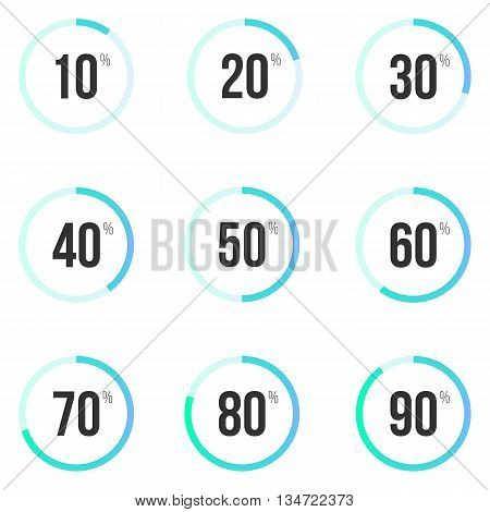 Collection of round progress bars. Infographic templates, vector eps 10.