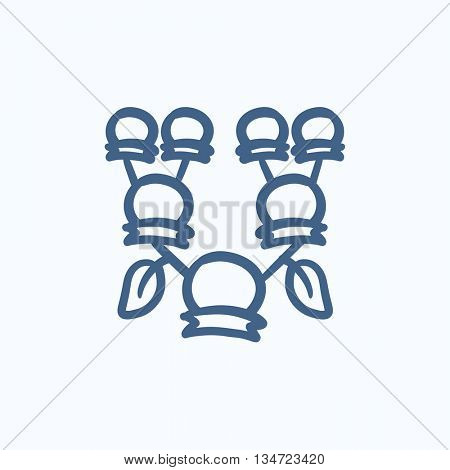 Family tree vector sketch icon isolated on background. Hand drawn Family tree icon. Family tree sketch icon for infographic, website or app.