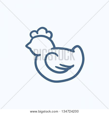 Chick vector sketch icon isolated on background. Hand drawn Chick icon. Chick sketch icon for infographic, website or app.