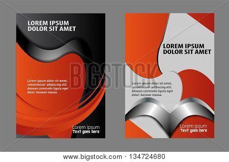 booklet catalog brochure folder. vector business brochure, flyer template