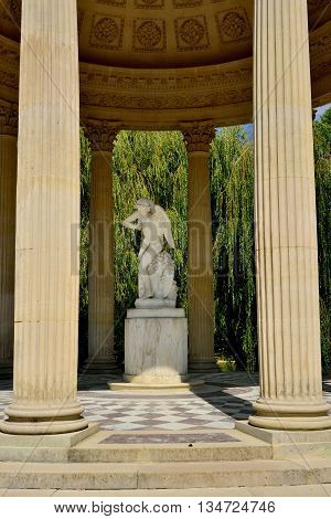 Versailles France - august 19 2015 : the temple of love the Marie Antoinette estate in the parc of Versailles Palace