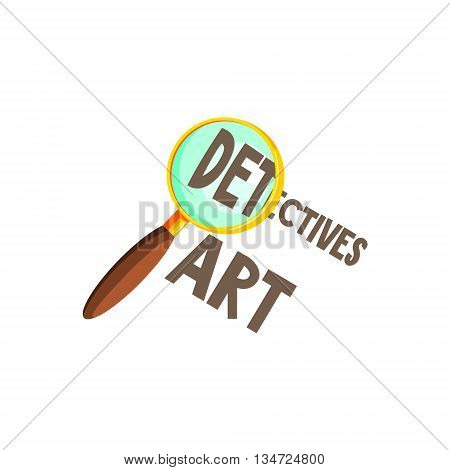 Magnifying Glass And Text Flat Simplified Colorful Vector Illustration Isolated On White Background