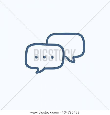 Speech squares vector sketch icon isolated on background. Hand drawn Speech squares icon. Speech squares sketch icon for infographic, website or app.