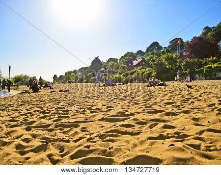 Hamburg City Beach (stadtstrand An Der Elbe), Germany