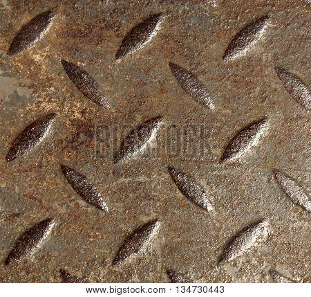 Grungy Metal Floor Texture.