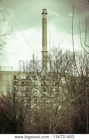 Typically Chimney From East Berlin In Winter