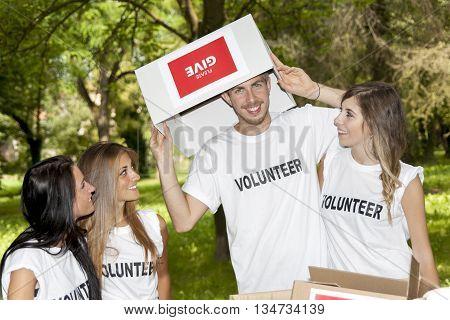 Group Of Teenagers Volunteering