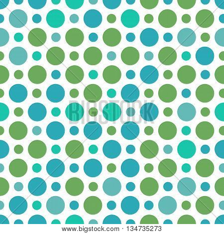 Vector seamless pattern with small and big peas. Polkadots seamless pattern