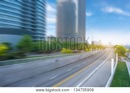 clean road of city,tianjin china,rapid traffic