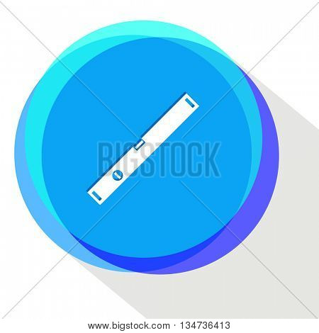 spirit level. Internet template. Vector icon.
