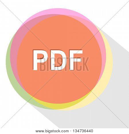 pdf. Internet template. Vector icon.