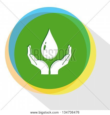 protection blood. Internet template. Vector icon.