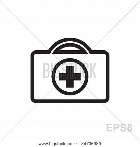First Aid Kit Icon Isolated