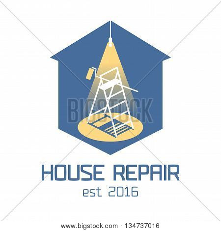 House and home repair, remodeling vector logo, icon