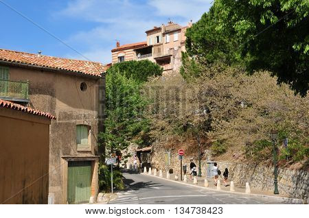 Le Castellet France - april 20 2016 : the picturesque village in spring