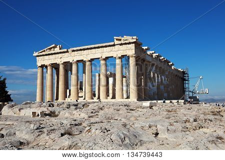 The main temple of ancient Athens. Parthenon. Acropolis. Athens. Greece.