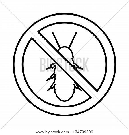 No termite sign icon in outline style isolated on white background