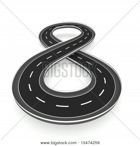 Infinite road in hourglass shape