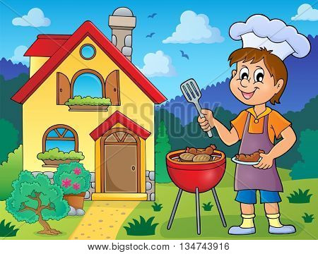 Barbeque theme image 3 - eps10 vector illustration.