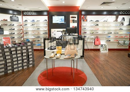 KUALA LUMPUR, MALAYSIA - MAY 09, 2016: inside of Suria KLCC. Suria KLCC is located in the Kuala Lumpur City Centre district. It is in the vicinity of the landmark the Petronas Towers.