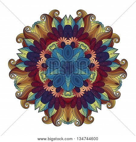 Vector Beautiful Deco Colored Contour Star