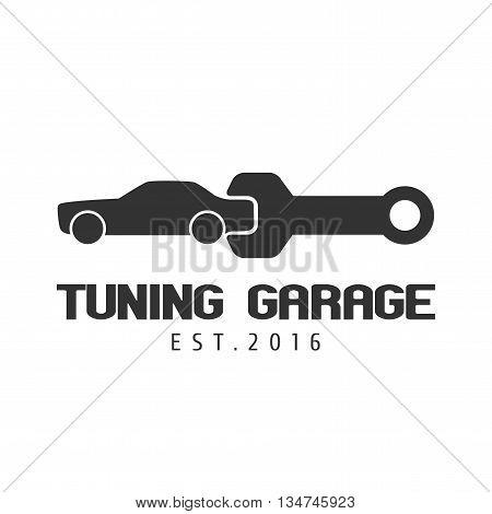Car tuning repair garage vector logo template. Car concept