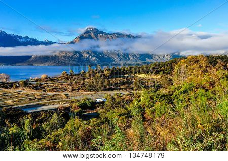 Low Clouds In The Mountains In Glenorchy, New Zealand