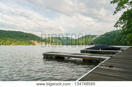 Boat Dock On Cheat Lake Morgantown