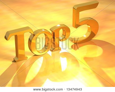 Top 5 Gold Text