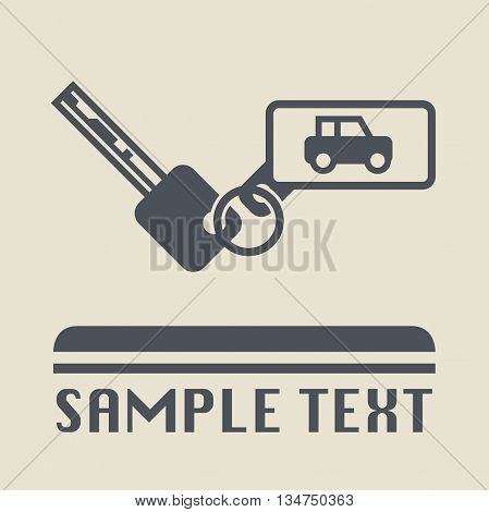 Car keys icon or sign, vector illustration