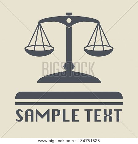 Abstract Scale icon or sign, vector illustration