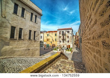 Alghero old town on a clear day Italy