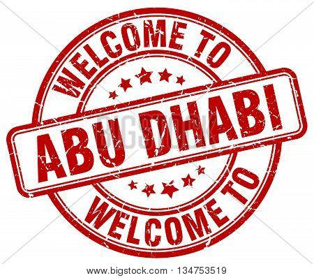 welcome to Abu Dhabi stamp. welcome to Abu Dhabi.