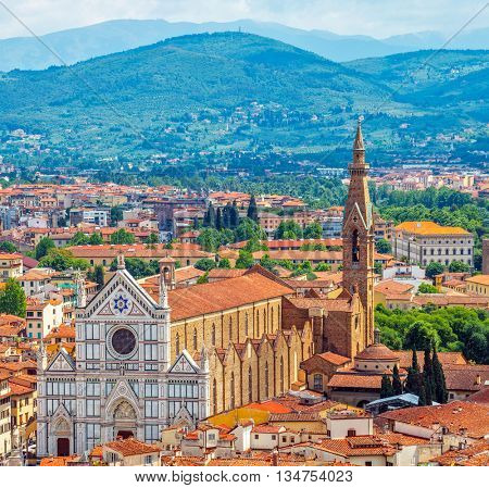 Great synagogue of florence top view at town blue mountains