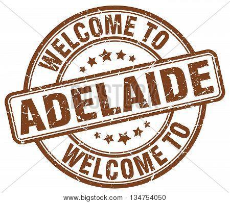 welcome to Adelaide stamp. welcome to Adelaide.