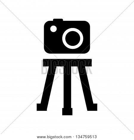 tripod camera photographic icolated icon design, vector illustration eps10 graphic