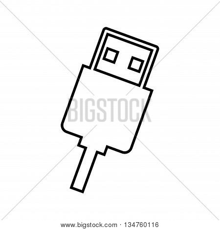 usb connection isolated  icon design, vector illustration eps10 graphic