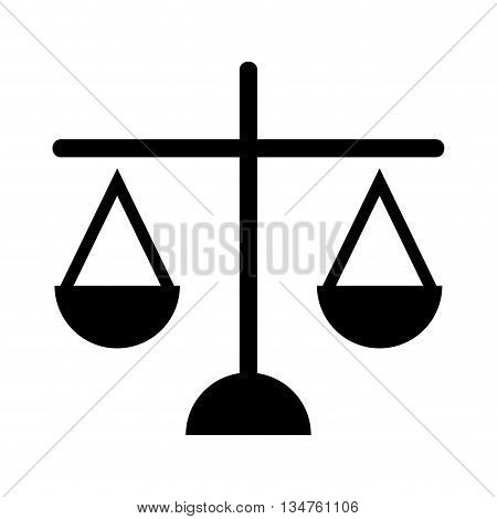 scales of justice isolated icon design, vector illustration eps10 graphic
