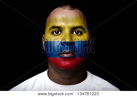 Man With Colombia Flag