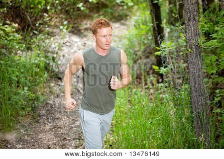 Young man jogging