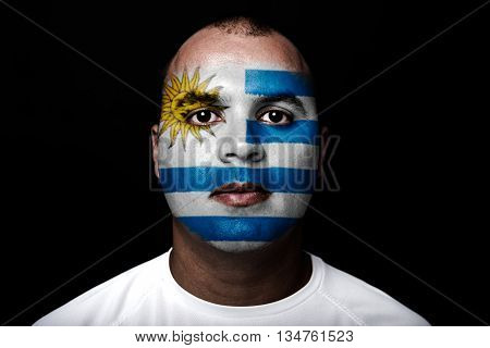 Man With Uruguay Flag