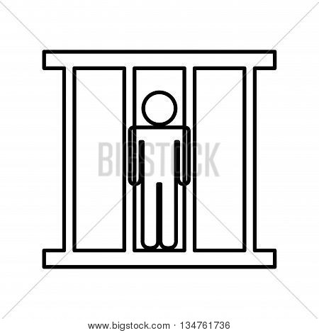 prisoner in jail isolated icon design, vector illustration eps10 graphic