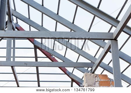 Steel Beams Roof Truss Residential Building Construction Industry