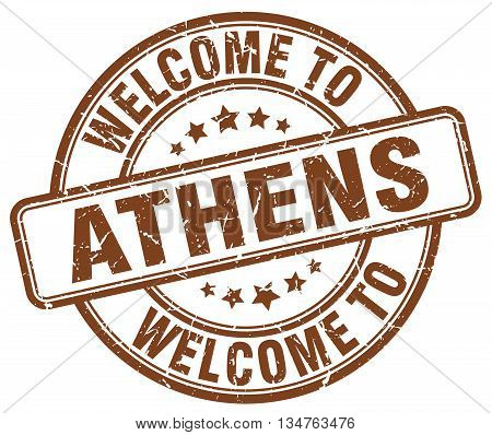 Welcome To Athens Stamp. Welcome To Athens.