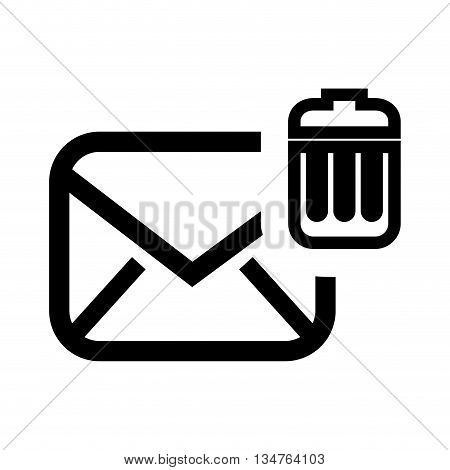 delete email setup isolated icon design, vector illustration eps10 graphic