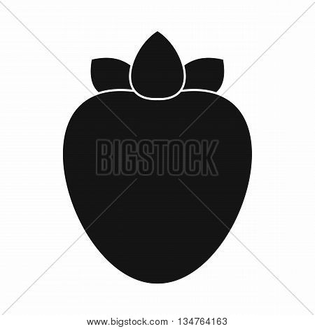Ripe persimmon icon in simple style isolated on white background