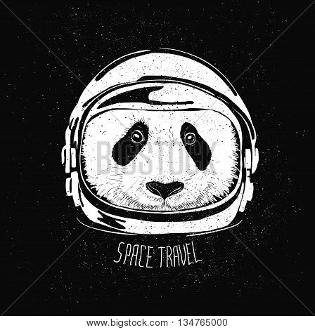 abstract astronaut helmet to space travel vector emblem isolated